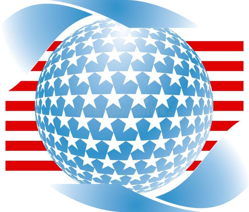 Símbolo americano ilustração royalty free