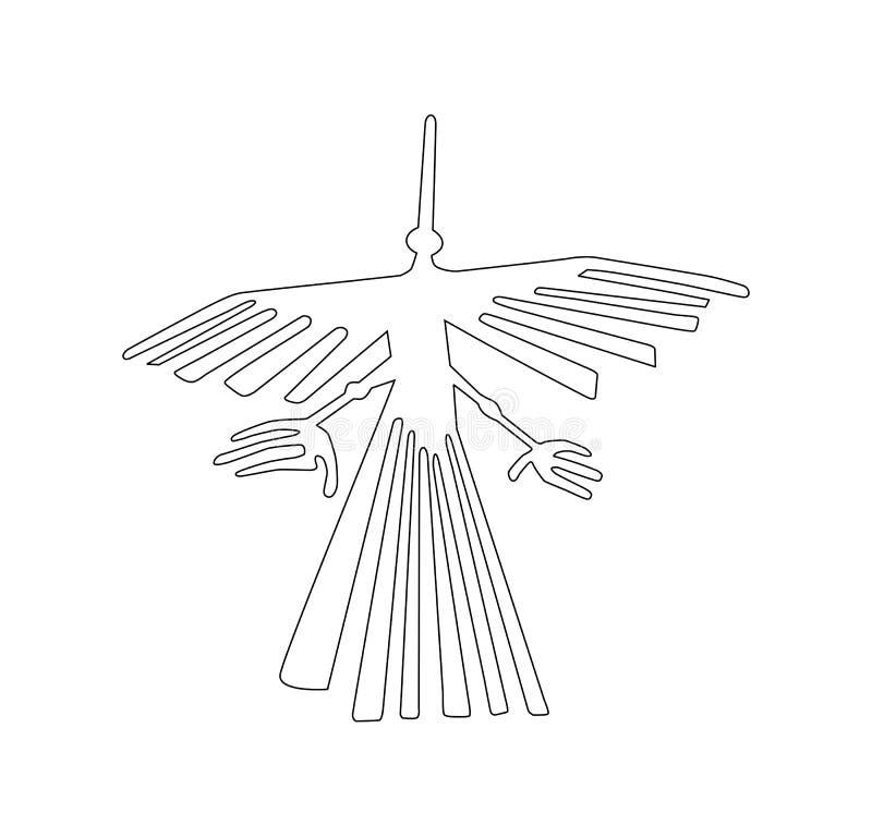 símbolo antigo do geoglyph ilustração stock