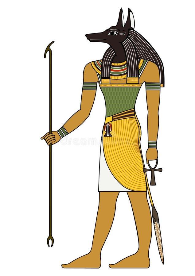 Símbolo antigo egípcio, figura isolada de deidades de Egito antigo ilustração stock