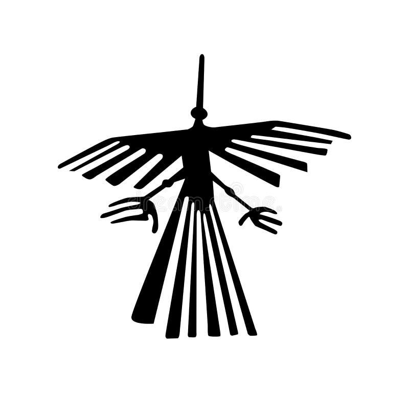 símbolo antiguo del geoglyph stock de ilustración