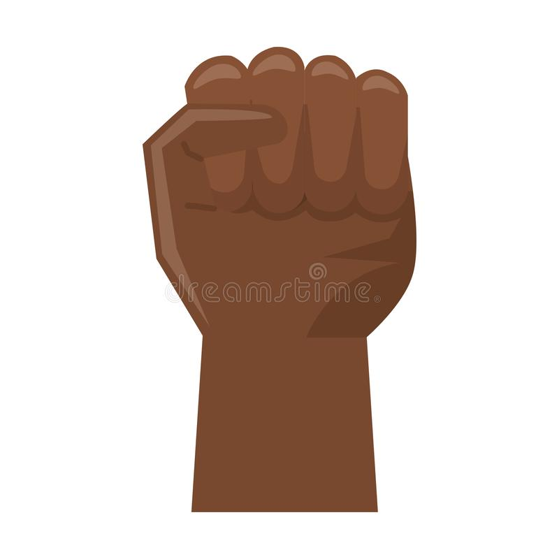 Símbolo apretado de la mano negra libre illustration
