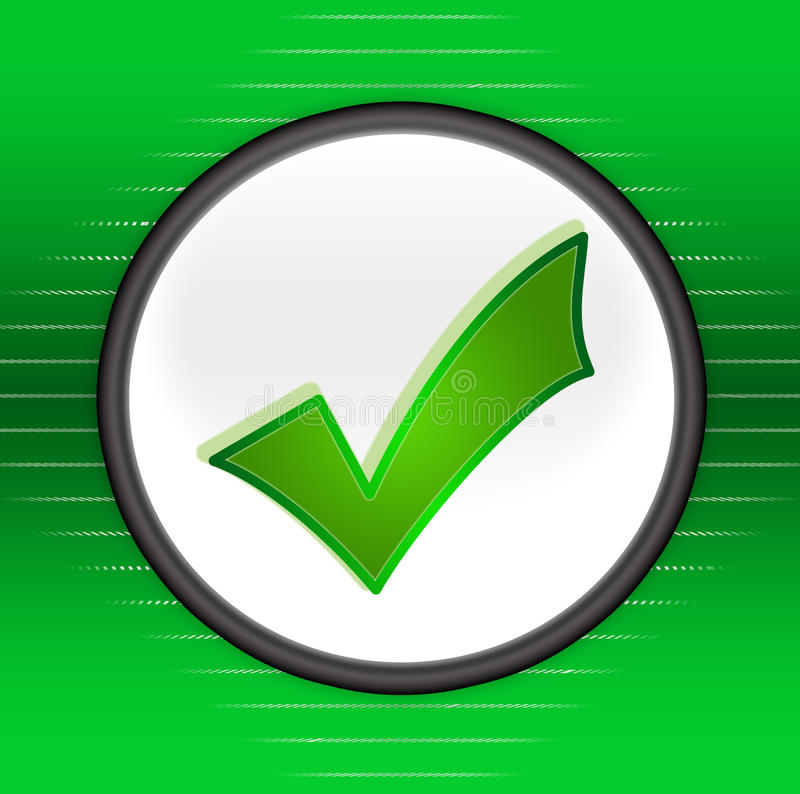 Símbolo aprovado ilustração do vetor