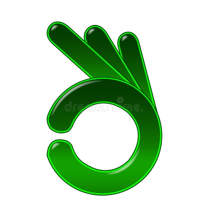 Símbolo aprovado da mão ilustração royalty free
