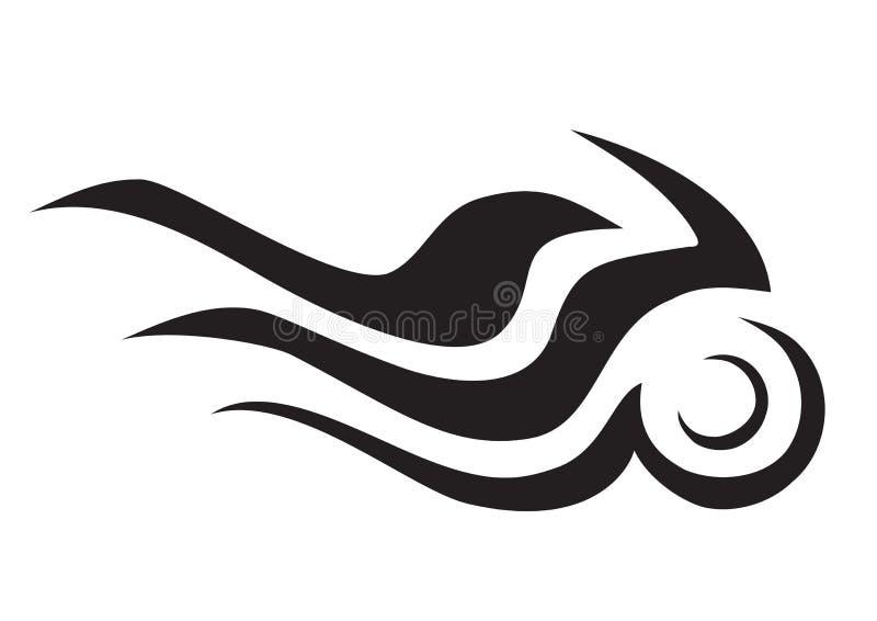 Símbolo ardente da motocicleta ilustração stock