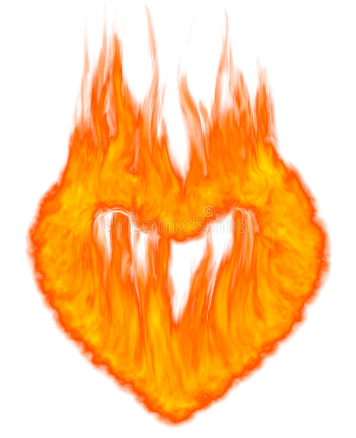Símbolo ardiente del corazón stock de ilustración