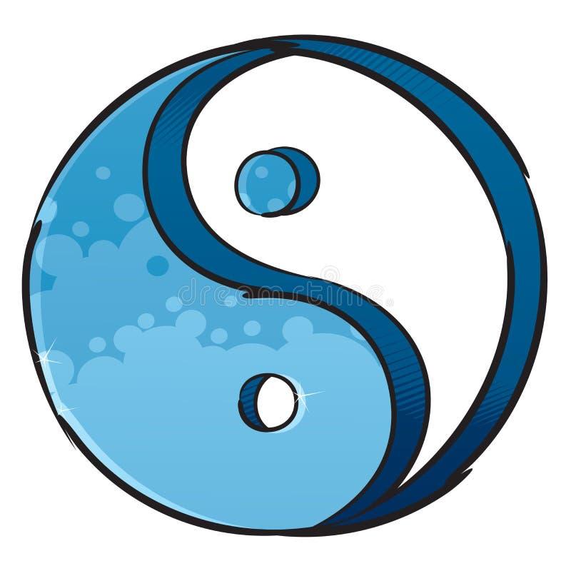 Símbolo artístico de yin-yang ilustración del vector