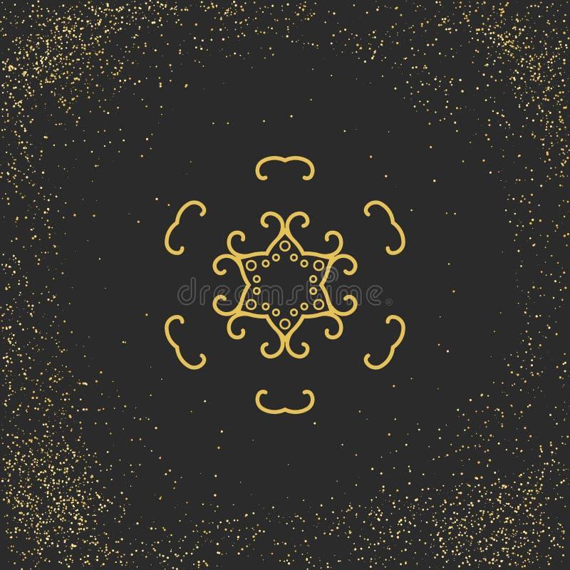Símbolo asiático de la mandala ilustración del vector