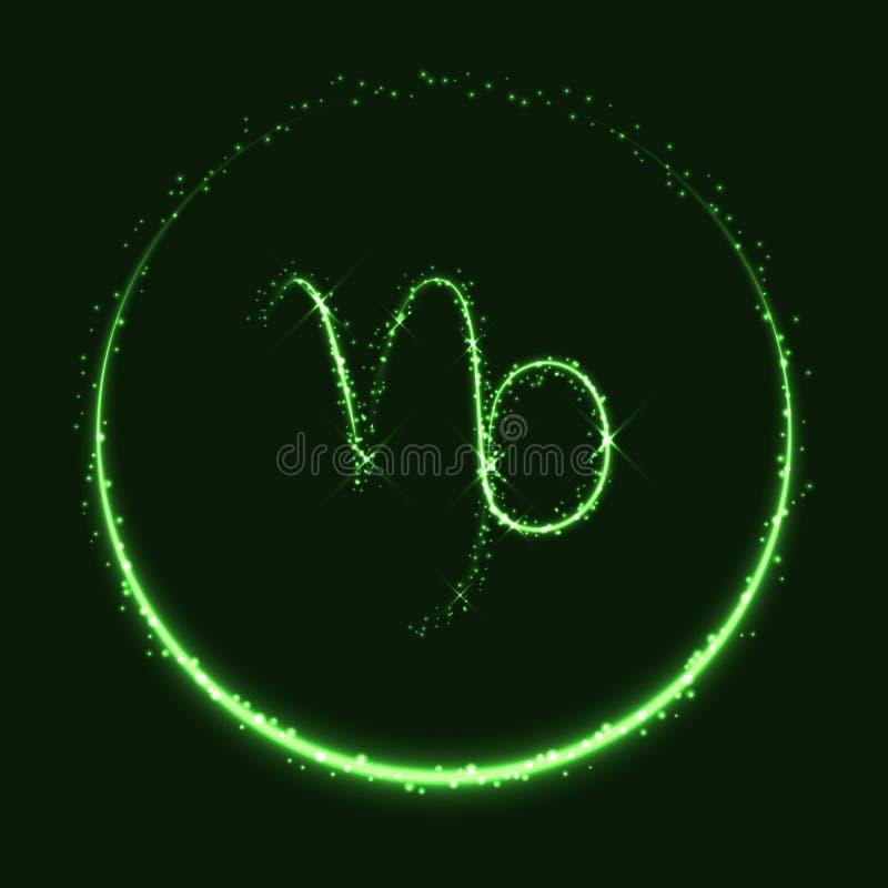 Símbolo astrológico del vector brillante del Capricornio libre illustration