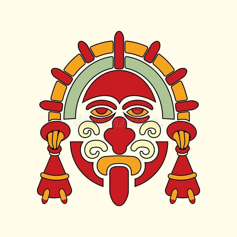 Símbolo azteca del guerrero fotografía de archivo