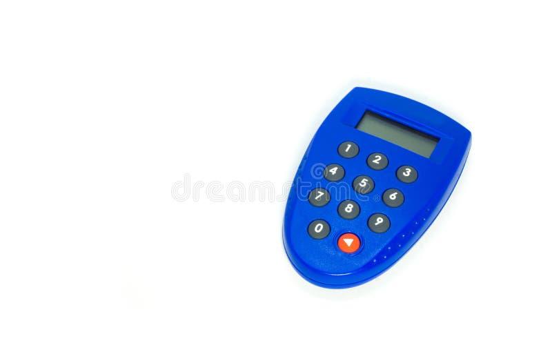 Símbolo azul del banco de la llave de la seguridad imagenes de archivo