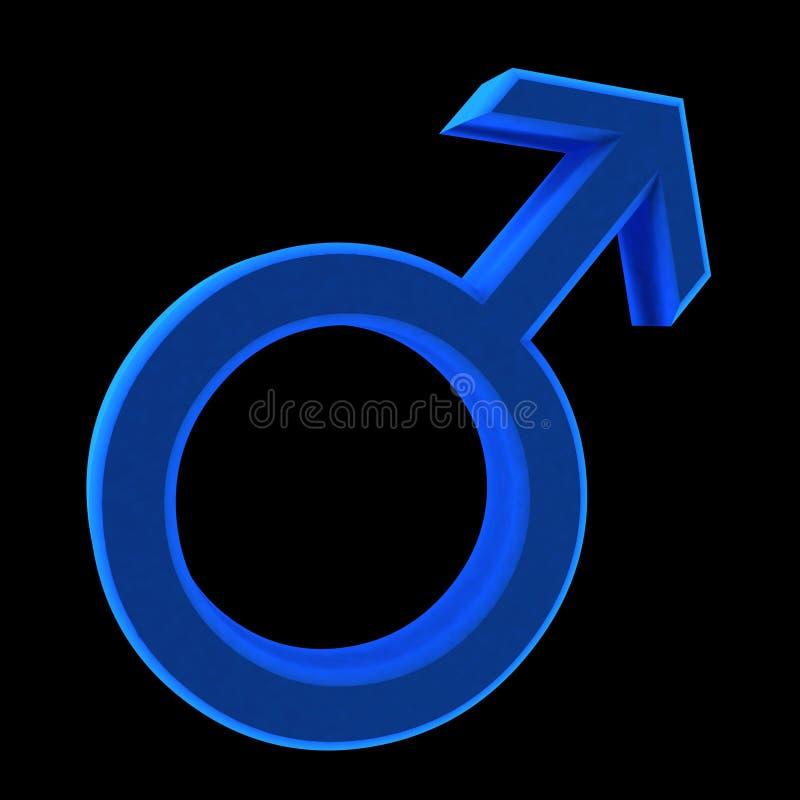 Símbolo azul del hombre libre illustration