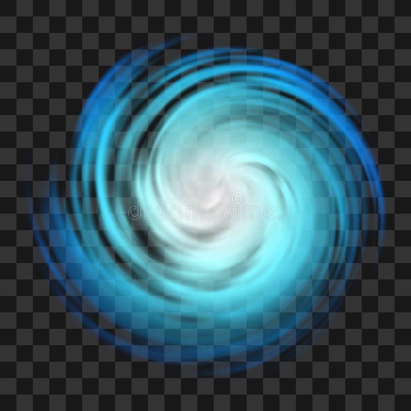 Símbolo azul del huracán en fondo transparente oscuro libre illustration
