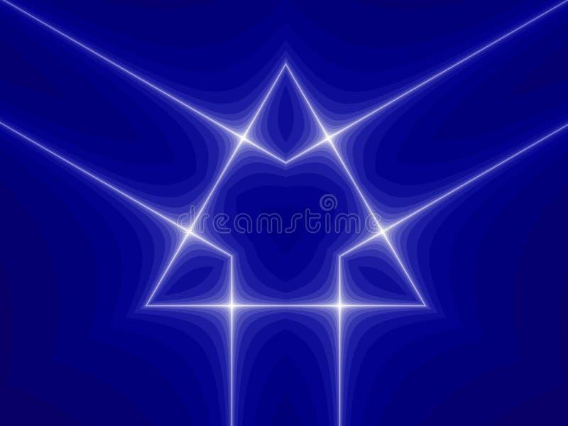 Símbolo azul del triángulo stock de ilustración