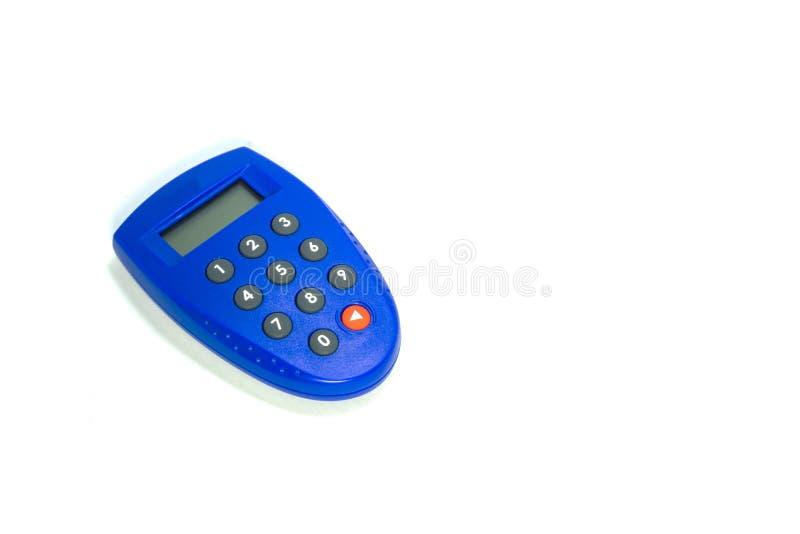 Símbolo azul do banco da chave da segurança imagens de stock