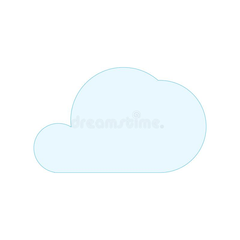 Símbolo azul simple de la forma de la nube Ilustración del vector aislada en el fondo blanco libre illustration