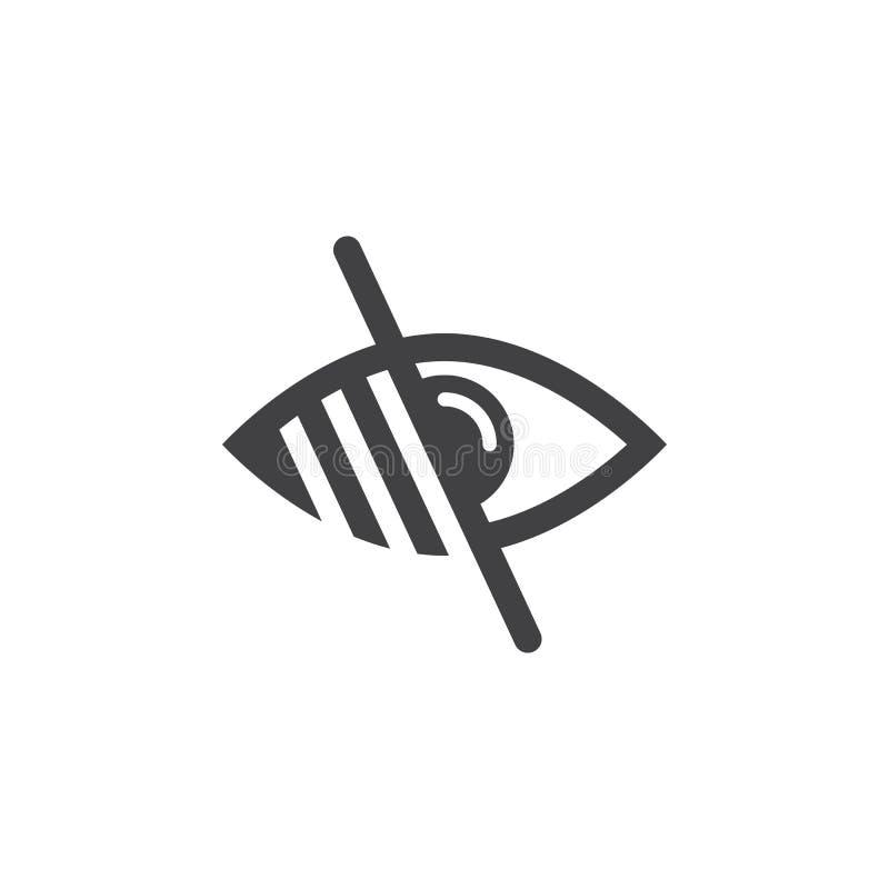 Símbolo bajo de Vision línea icono, illu de la ceguera del logotipo del esquema libre illustration