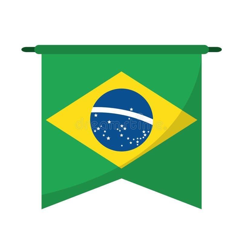 Símbolo brasileño de la ejecución de la bandera libre illustration