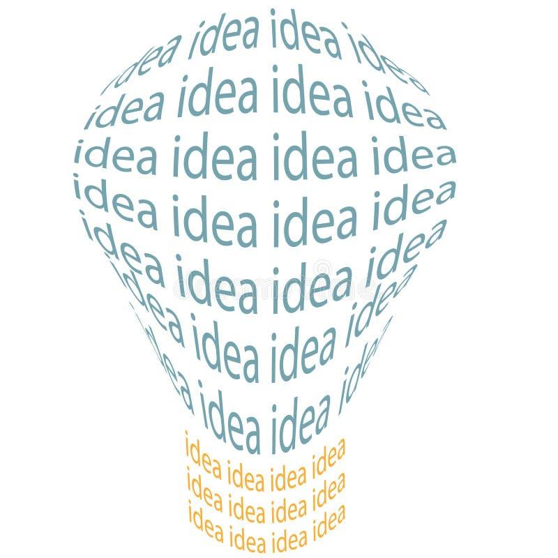 Símbolo brillante de la invención de la bombilla de la idea libre illustration