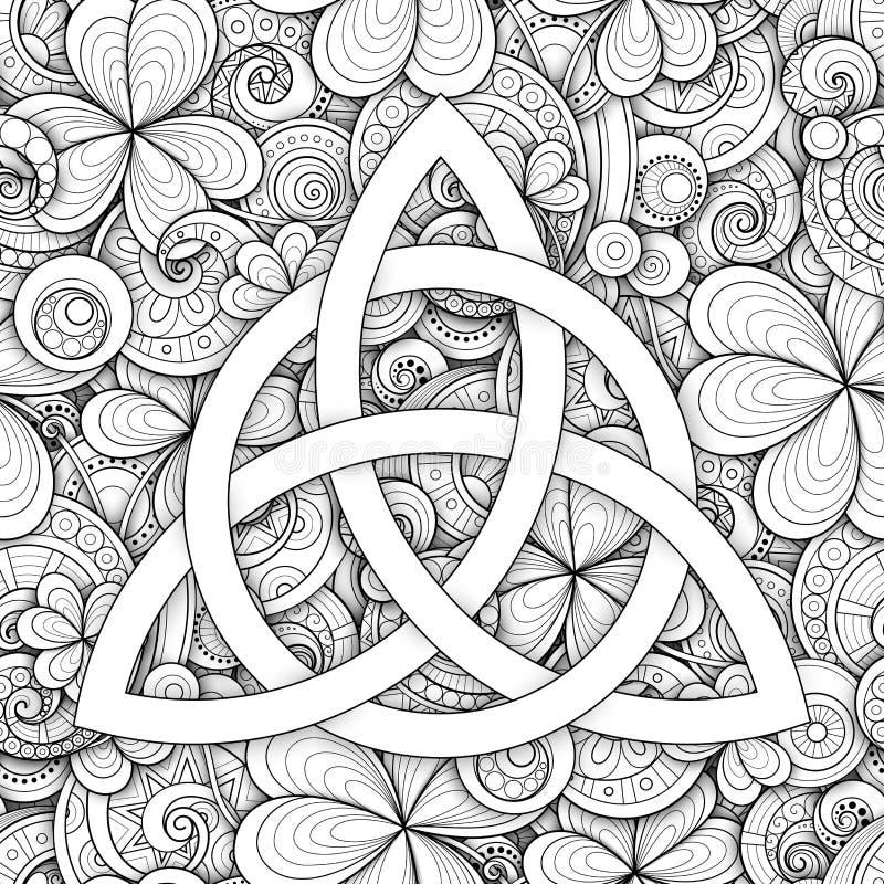 Símbolo celta do nó da trindade, sinal de Triquetra ilustração do vetor