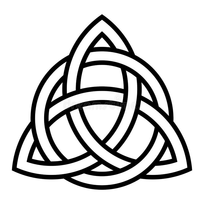 Símbolo celta do nó do triquetra ilustração do vetor
