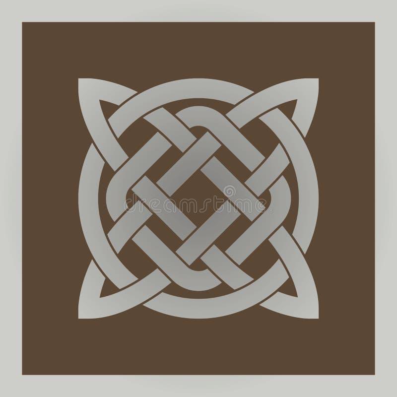 Símbolo celta transversal geométrico ilustração do vetor