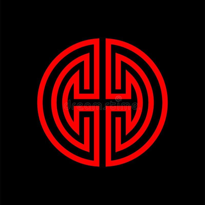 Símbolo chinês oriental da felicidade e da saúde ilustração royalty free