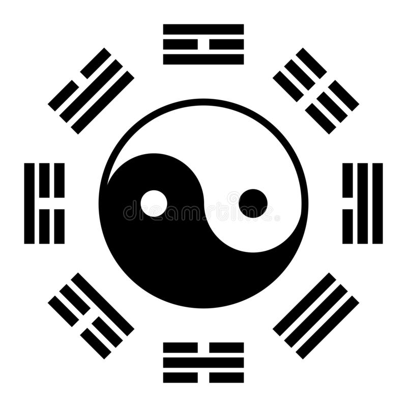 Símbolo chino del kua de Bagua o del PA libre illustration