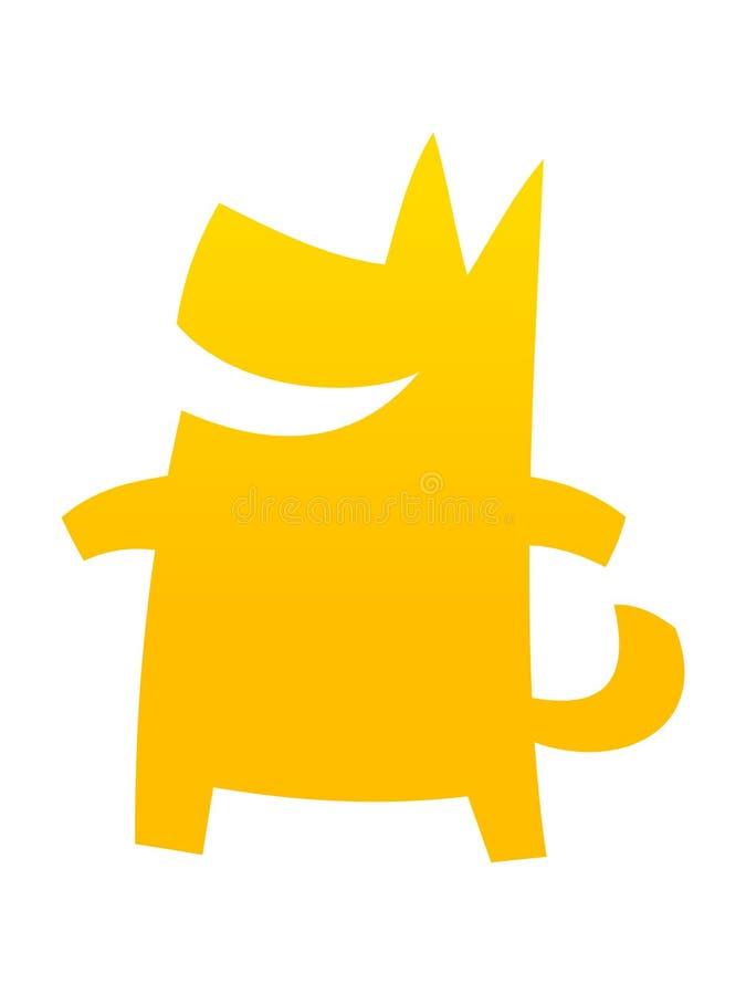 Símbolo chino lindo simple de 2018 años del perro amarillo nuevo libre illustration