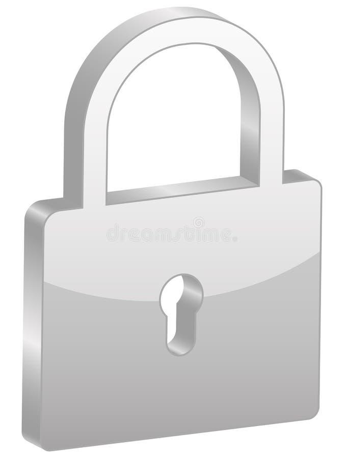 Símbolo cinzento do cadeado ilustração royalty free