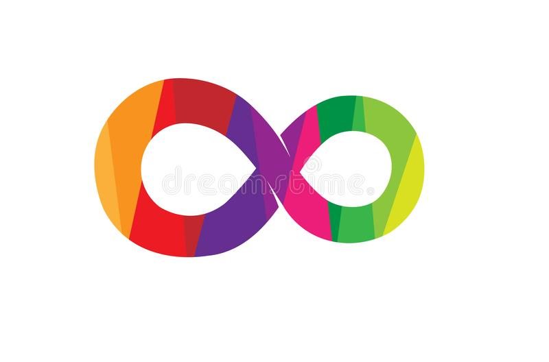 Símbolo colorido abstrato criativo Logo Design da infinidade ilustração royalty free