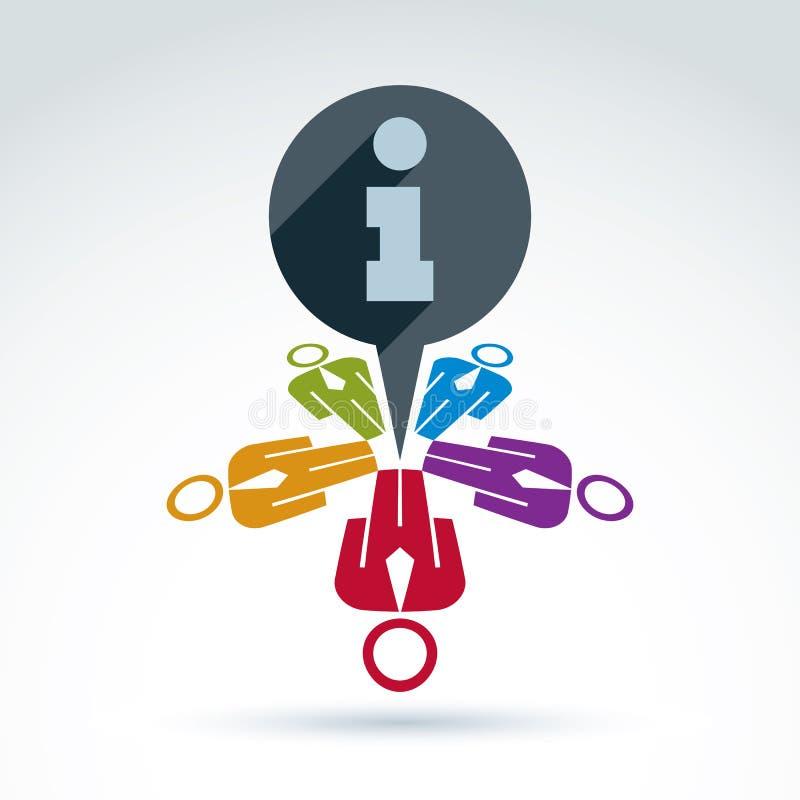 Símbolo colorido da informação, ícone global dos mass media Bubb do discurso ilustração royalty free