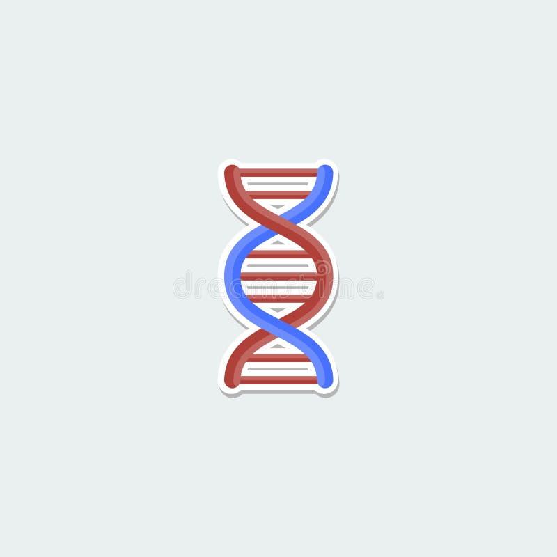 Símbolo colorido de la ciencia - molécula de la DNA stock de ilustración