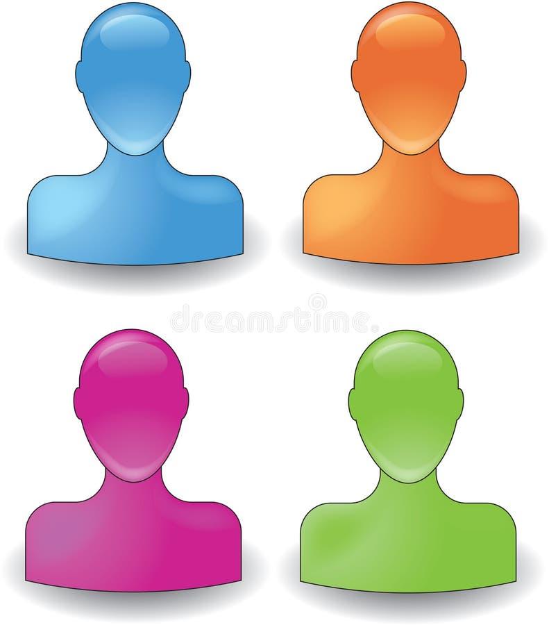 símbolo colorido de la gente libre illustration