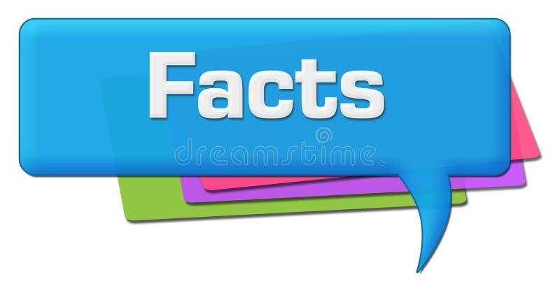 Símbolo colorido del comentario de los hechos ilustración del vector