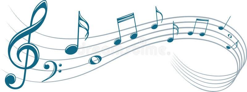 Símbolo com notas da música ilustração do vetor