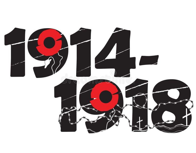 Símbolo comemorativo da Primeira Guerra Mundial ilustração royalty free