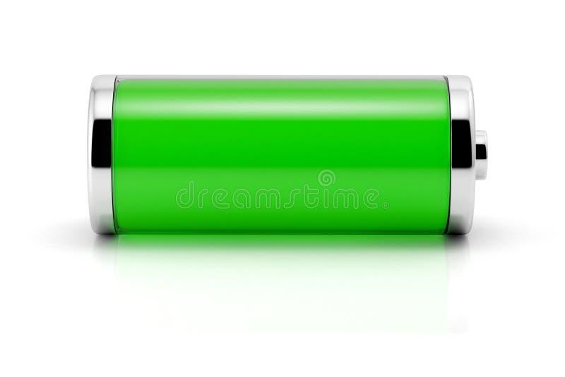 Símbolo completo da bateria foto de stock