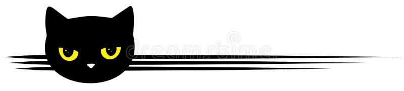 Símbolo con el gato negro ilustración del vector