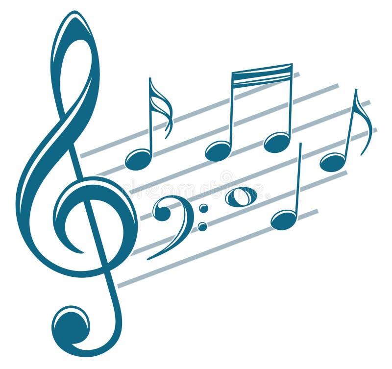 Símbolo con las notas de la música libre illustration