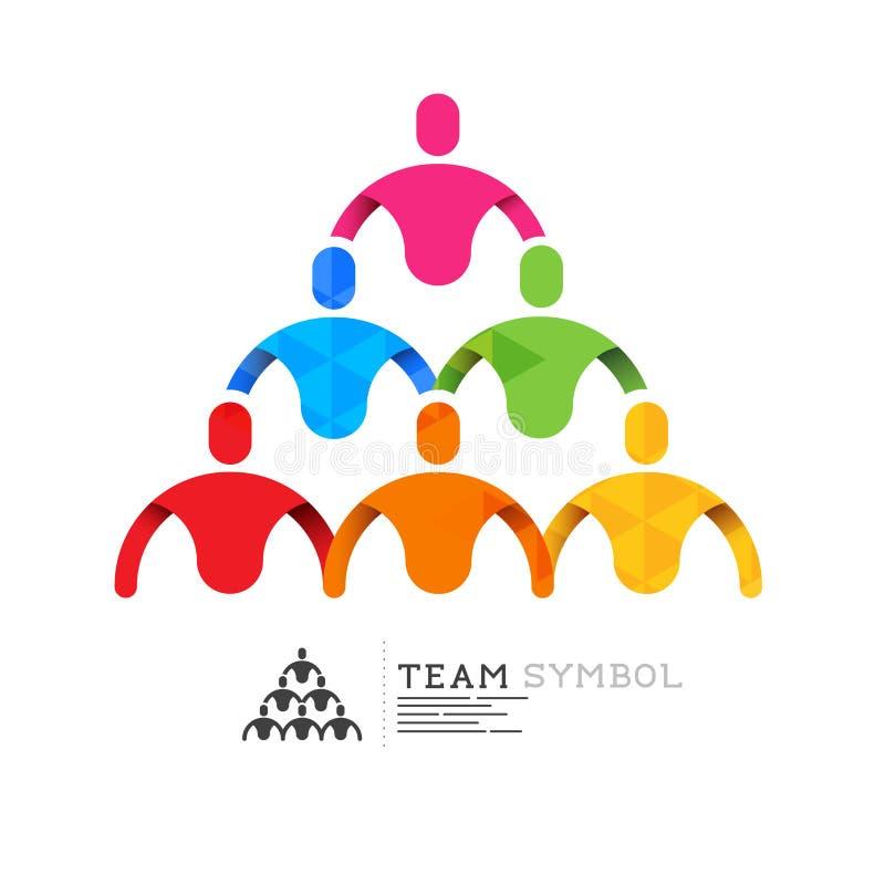 Símbolo conectado da equipe ilustração royalty free