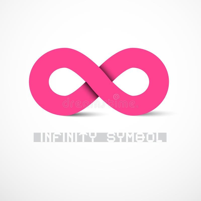Símbolo cor-de-rosa da infinidade do vetor ilustração stock