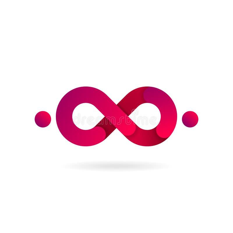 Símbolo cor-de-rosa da infinidade Engrena o ícone Painel solar e sinal para a energia alternativa ilustração stock