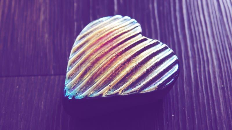 Símbolo coração-dado forma romântico imagens de stock