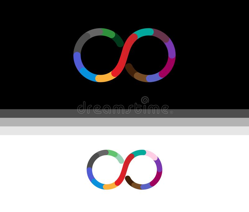 Símbolo creativo Logo Design Illustration del infinito libre illustration