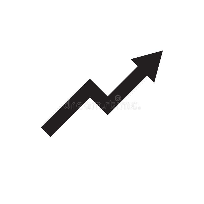 Símbolo crescente Projeto simples, liso para a Web ou móbil fotografia de stock