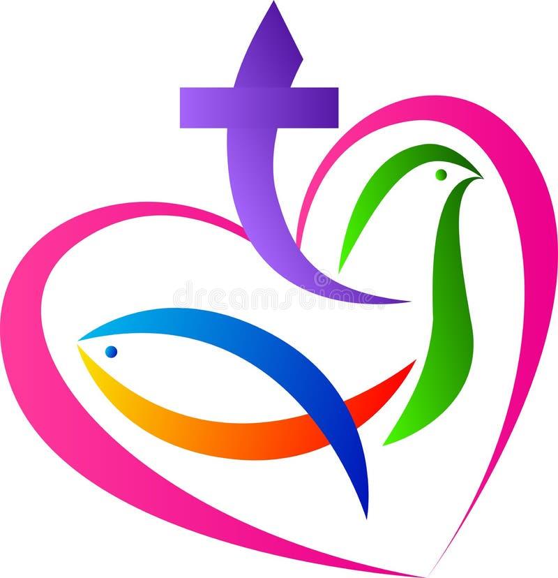 Símbolo cristão do amor ilustração do vetor