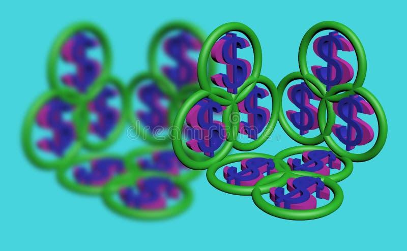 Símbolo 3d del dólar fotos de archivo