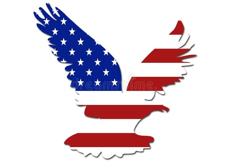Símbolo da águia da bandeira dos E.U. ilustração royalty free