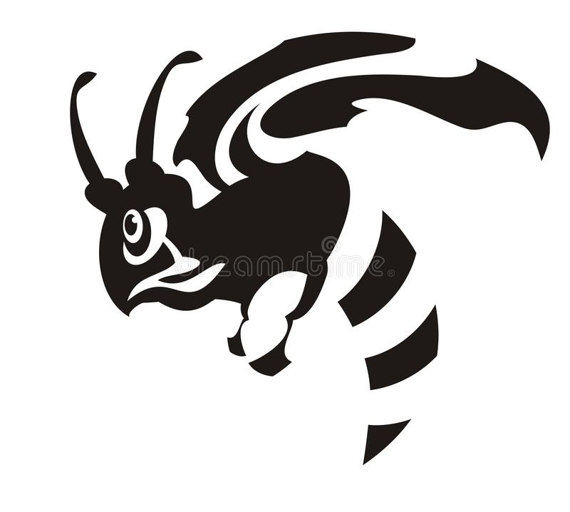 Símbolo da abelha do vetor ilustração stock