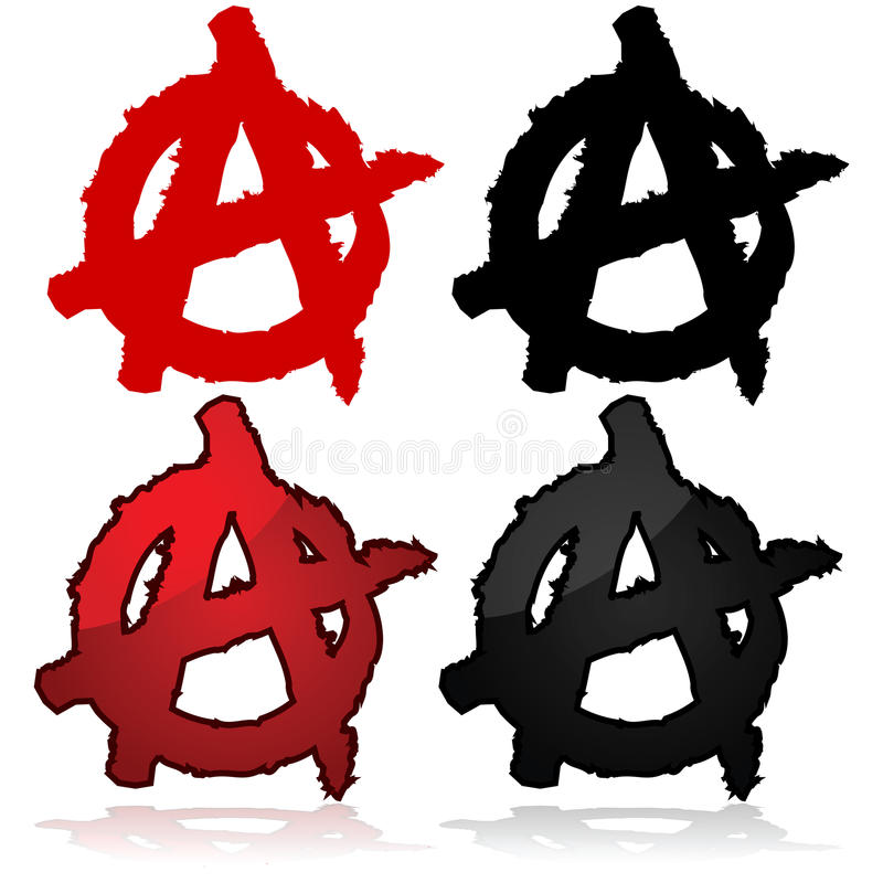 Símbolo da anarquia ilustração stock